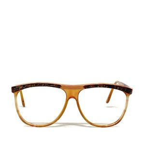 Vintage Straight Edge Tortoise Shell Glasses Frame